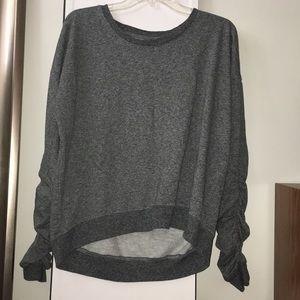 Adorable ruched sleeved sweatshirt